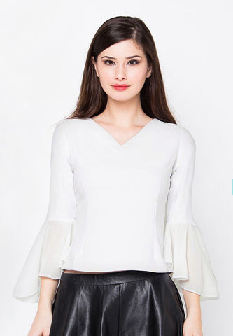 Catlyn Blouse -White