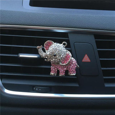 Animal Totem Elephant Pink Bling Car Freshener - FIHEROE.