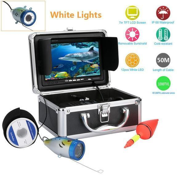 "7"" Fish Finder Camera (with 12 LED lights for Night Vision)"