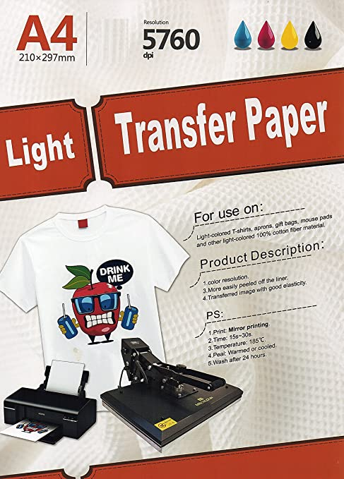 White and Light Color Transfer Paper