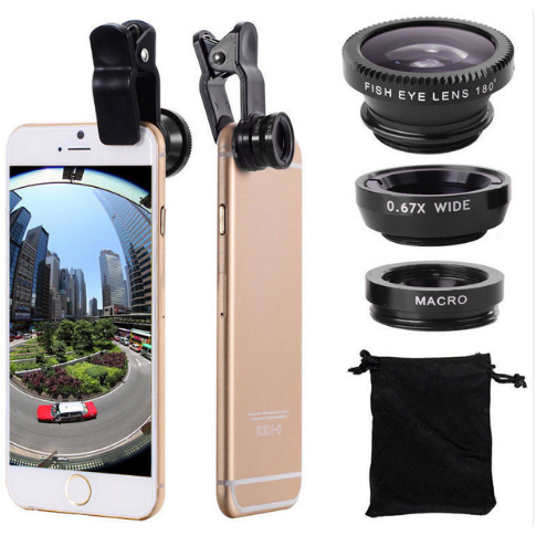 Original 3-in-1 Mobile Phone Fish Eye Lenses