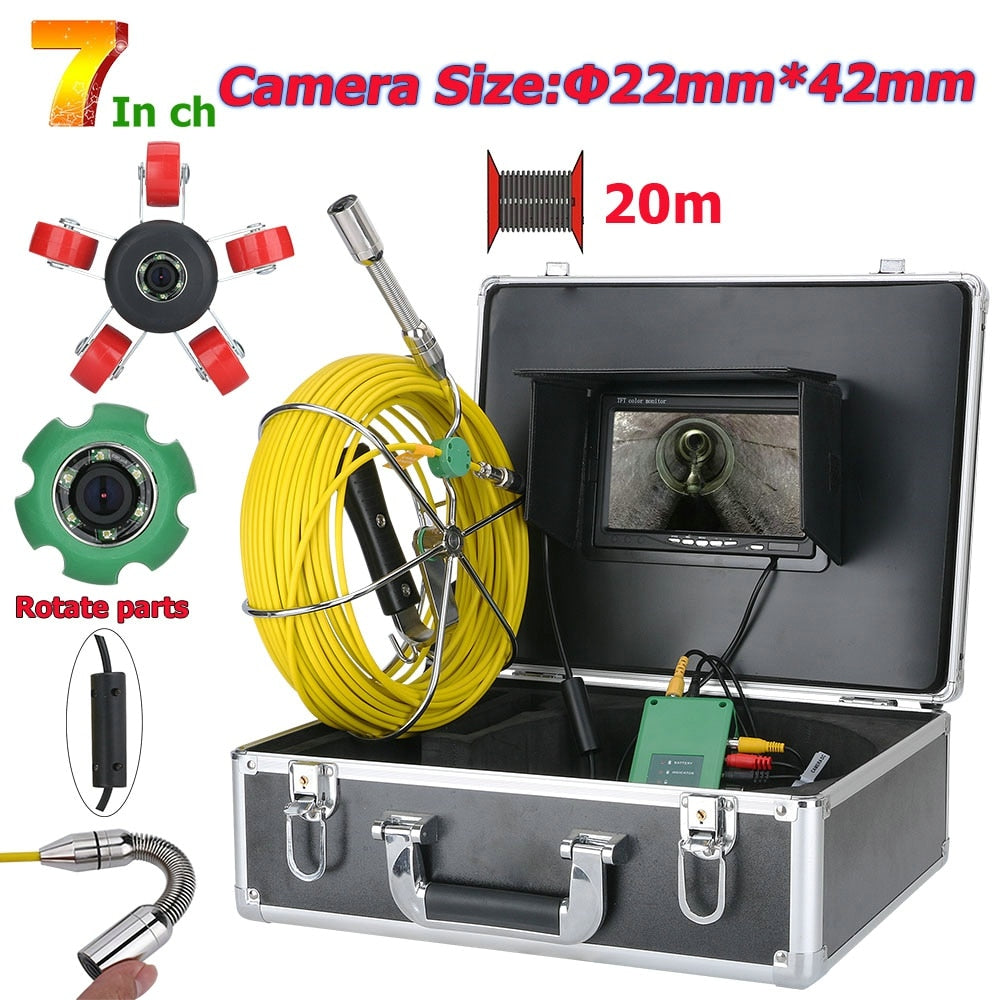 "7"" Pipe Sewer Inspection Video Camera"