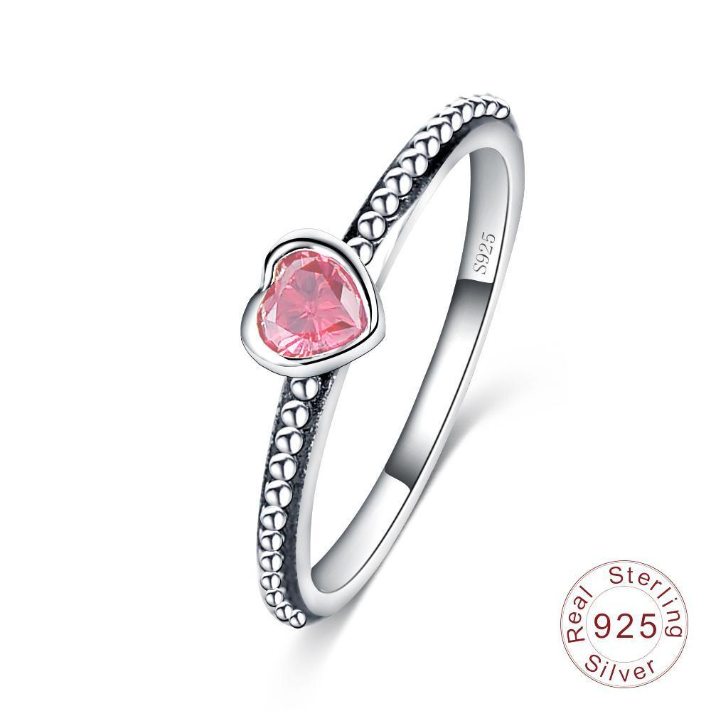 Romantic Heart Ring - 100% Authentic 925 Sterling Silver - Handy Treat