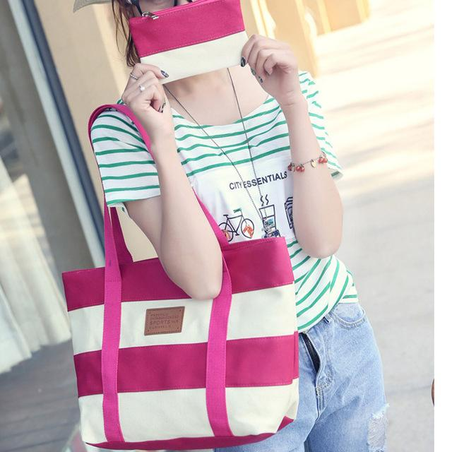 Canvas Casual Shoulder Bag with matching Purse - Handy Treat