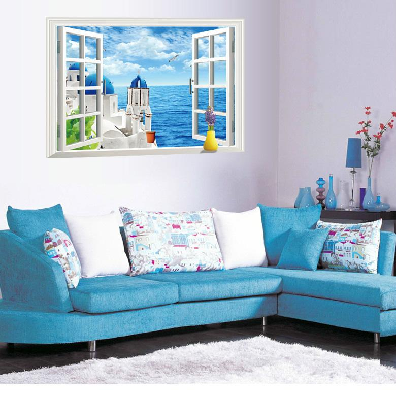 3D Window Wall Scenery Stickers (Removable) - Handy Treat
