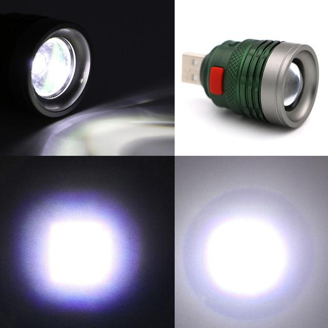 3 Mode Mini Tactical USB Torch Zoom - Handy Treat