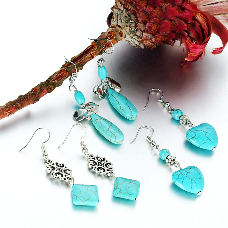 Bohemian Turquoise Earrings - Handy Treat