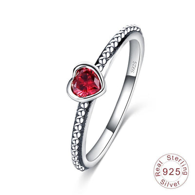 Romantic Heart Ring - 100% Authentic 925 Sterling Silver