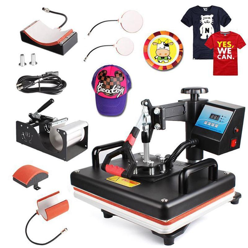 8-in-1 Sublimation Machine (Mug, Cap, T shirt, Phone Cases, Plate, Bags & More) - Handy Treat