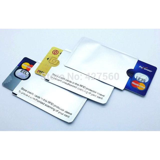 RFID Shielded Sleeve Card Protection