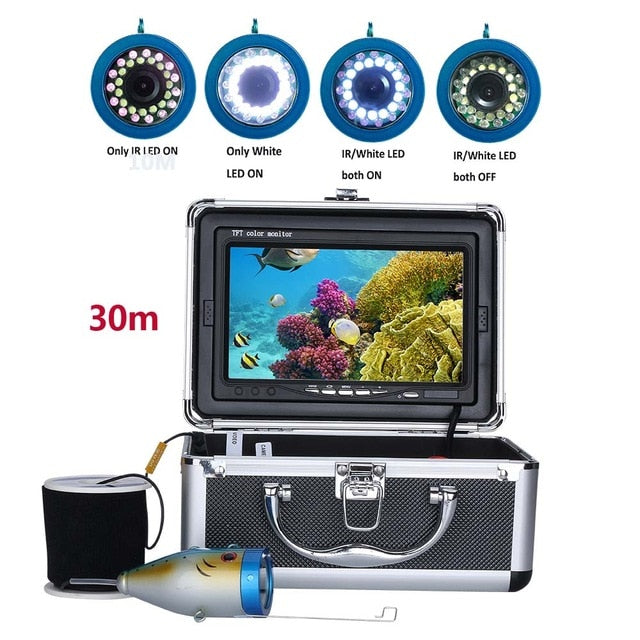 "7"" Fish Finder Fishing Camera  (15pcs White LEDs + 15pcs Infra Red LED Light)"