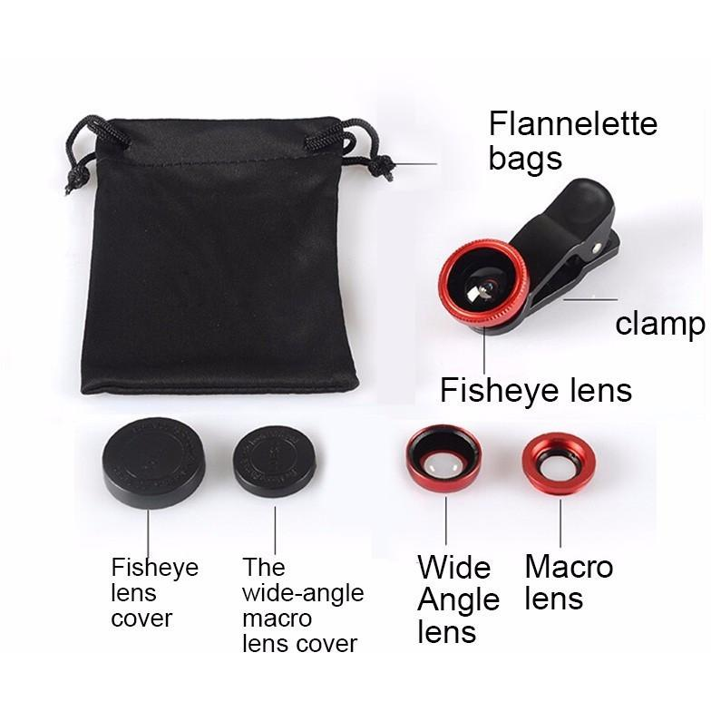 Original 3-in-1 Mobile Phone Fish Eye Lenses - Handy Treat