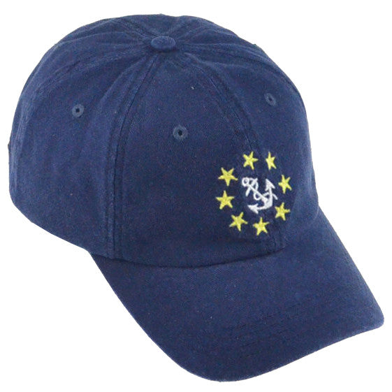 Nautical Preppy Anchor Washed Cap