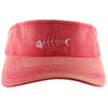 Nantucket Red Fishbone Visor Preppy