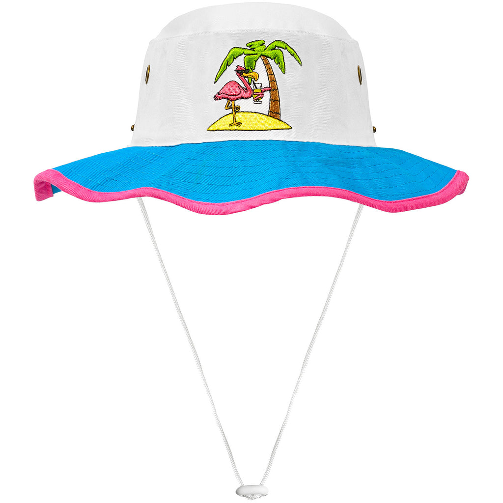 Flamingo Bucket Hat with String
