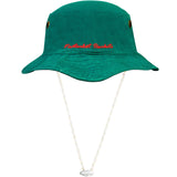 Green Bucket hat with string