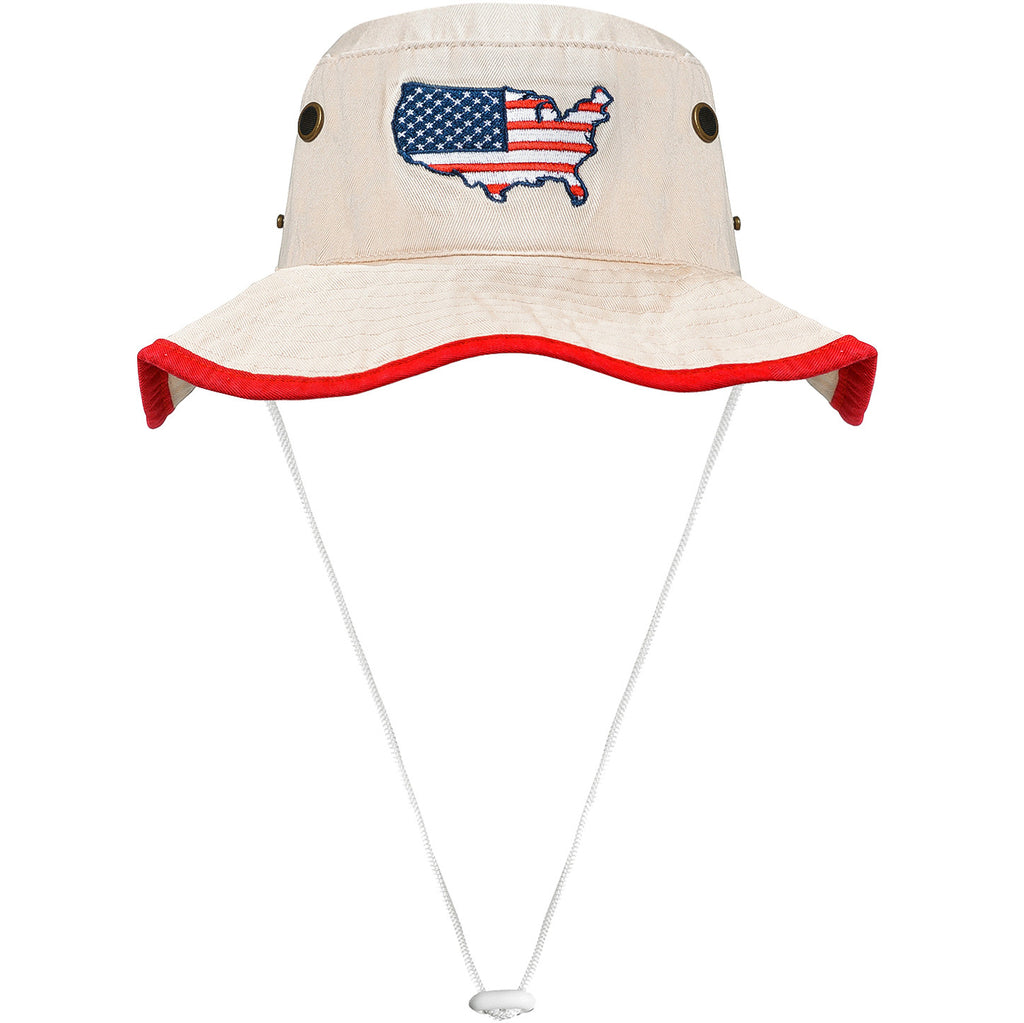 Nantucket Buckets Hat  American Flag Bucket Hat  USA ... f60e9893d4a