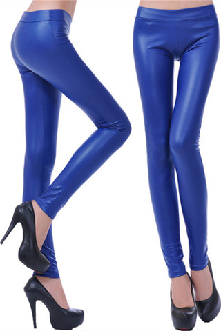 MIDDLE RISE WOMEN'S LEGGINGS BLUE