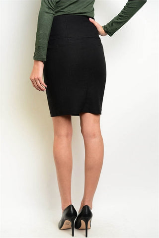 BLACK PENCIL FASHION SKIRT
