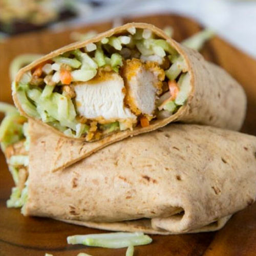 Honey Sesame Chicken Salad Wrap