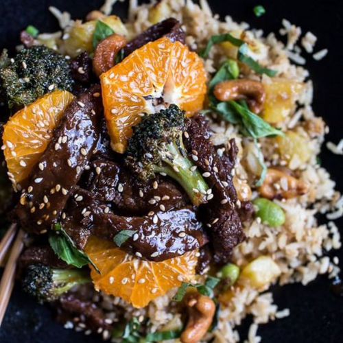 Orange Teriyaki Beef and Broccoli Stir-fry