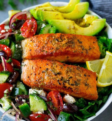 Salmon Greek Salad