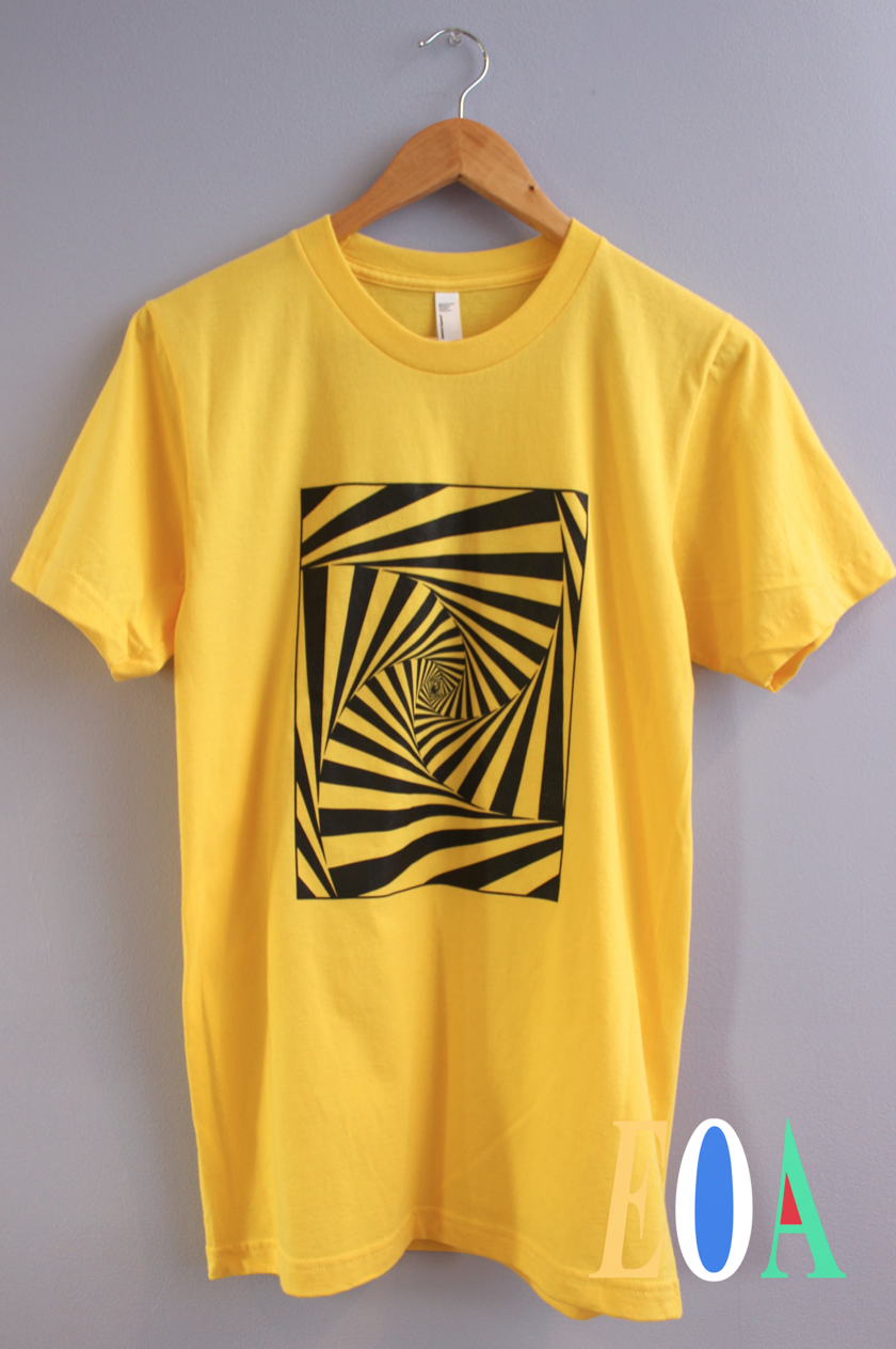 Hypnotic Spiral Yellow Graphic Unisex Tee