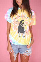 Buy More Records Grim Reaper Tie-Dye Graphic Unisex Tee