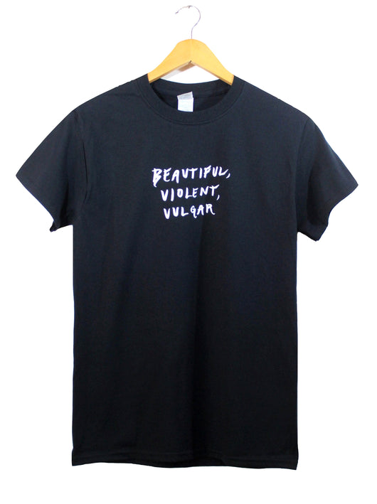 Beautiful, Violent, Vulgar Black Graphic Unisex Tee