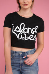 Island Vibes Graphic Crop Top