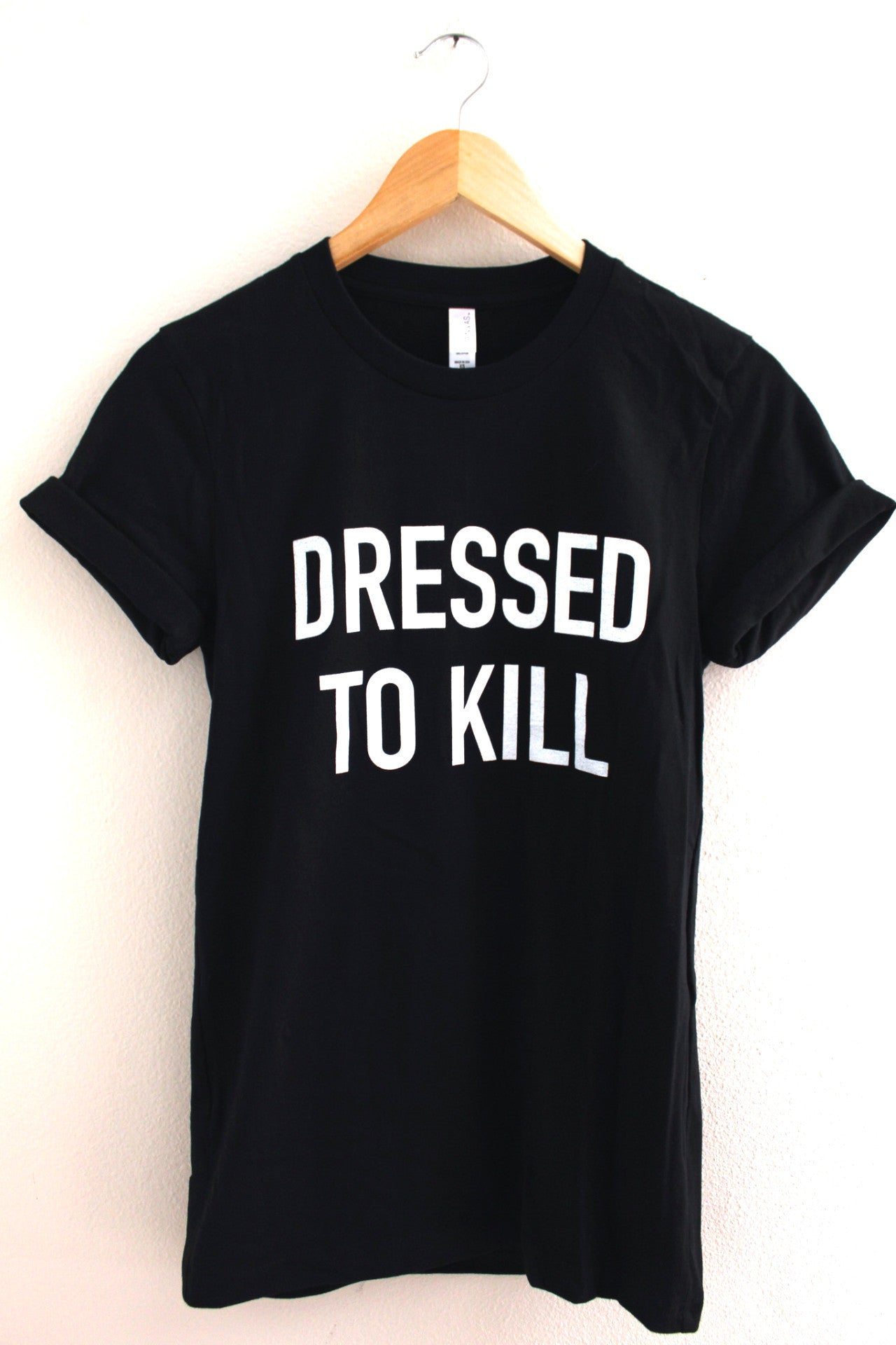 Dressed To Kill Black Graphic Unisex Tee