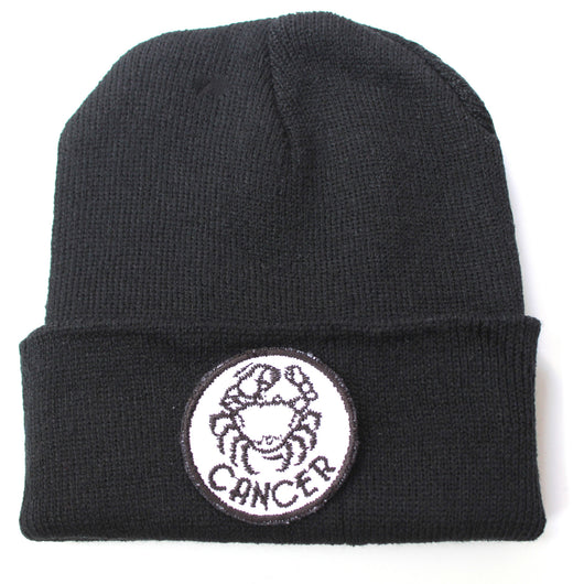 Cancer Zodiac Black Beanie