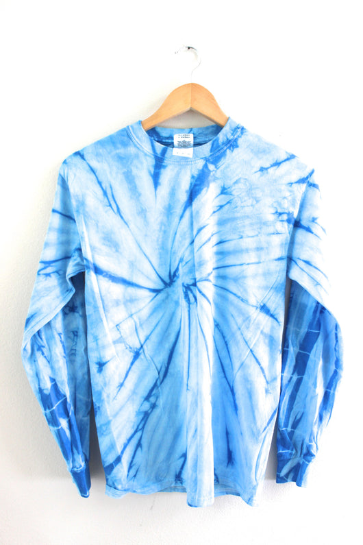 Sky Blue Tie-Dye Long Sleeve Unisex Tee