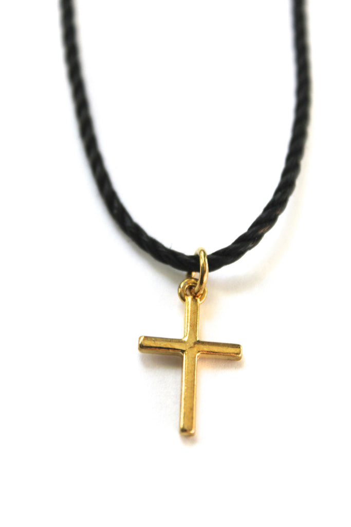 Gold Cross Choker Necklace