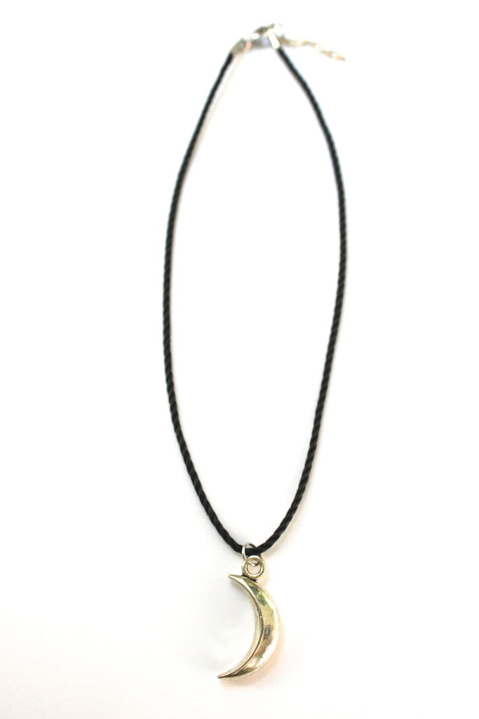 Crescent Moon Choker Necklace