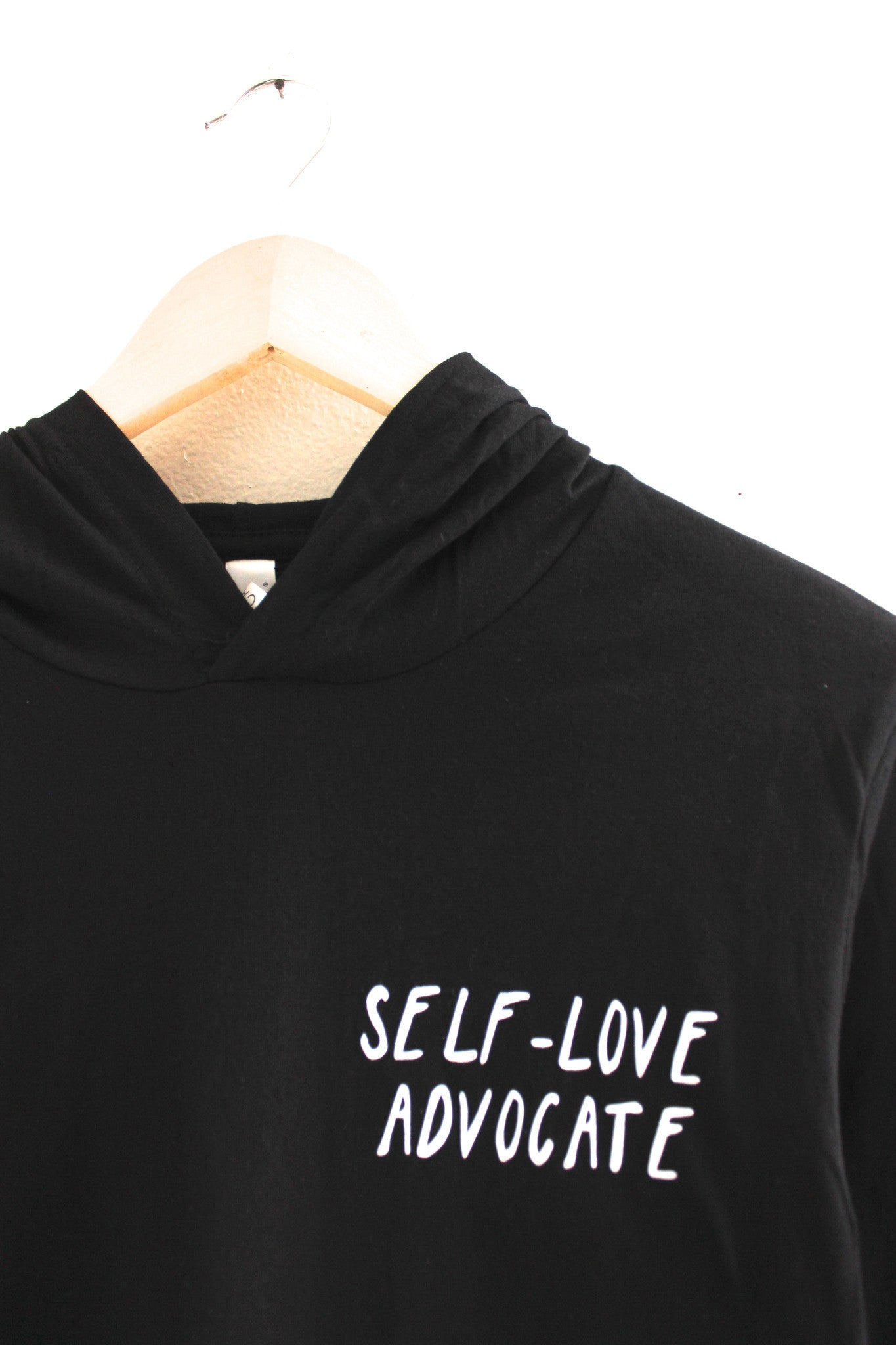 Self-Love Advocate Black T-Shirt Hoodie