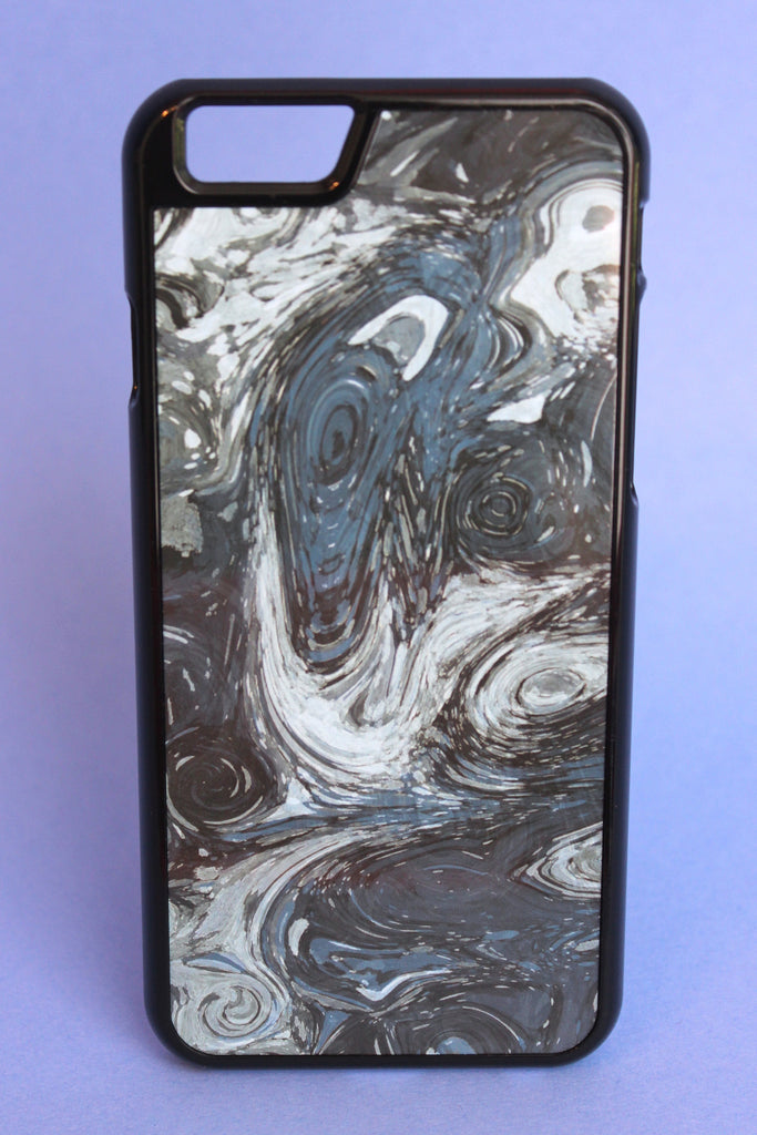 Blue Marbled Print Phone Case