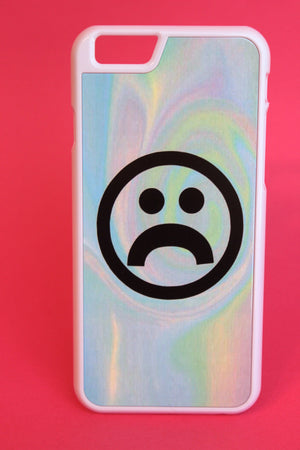 Frowny Face Pastel Color Warp Phone Case