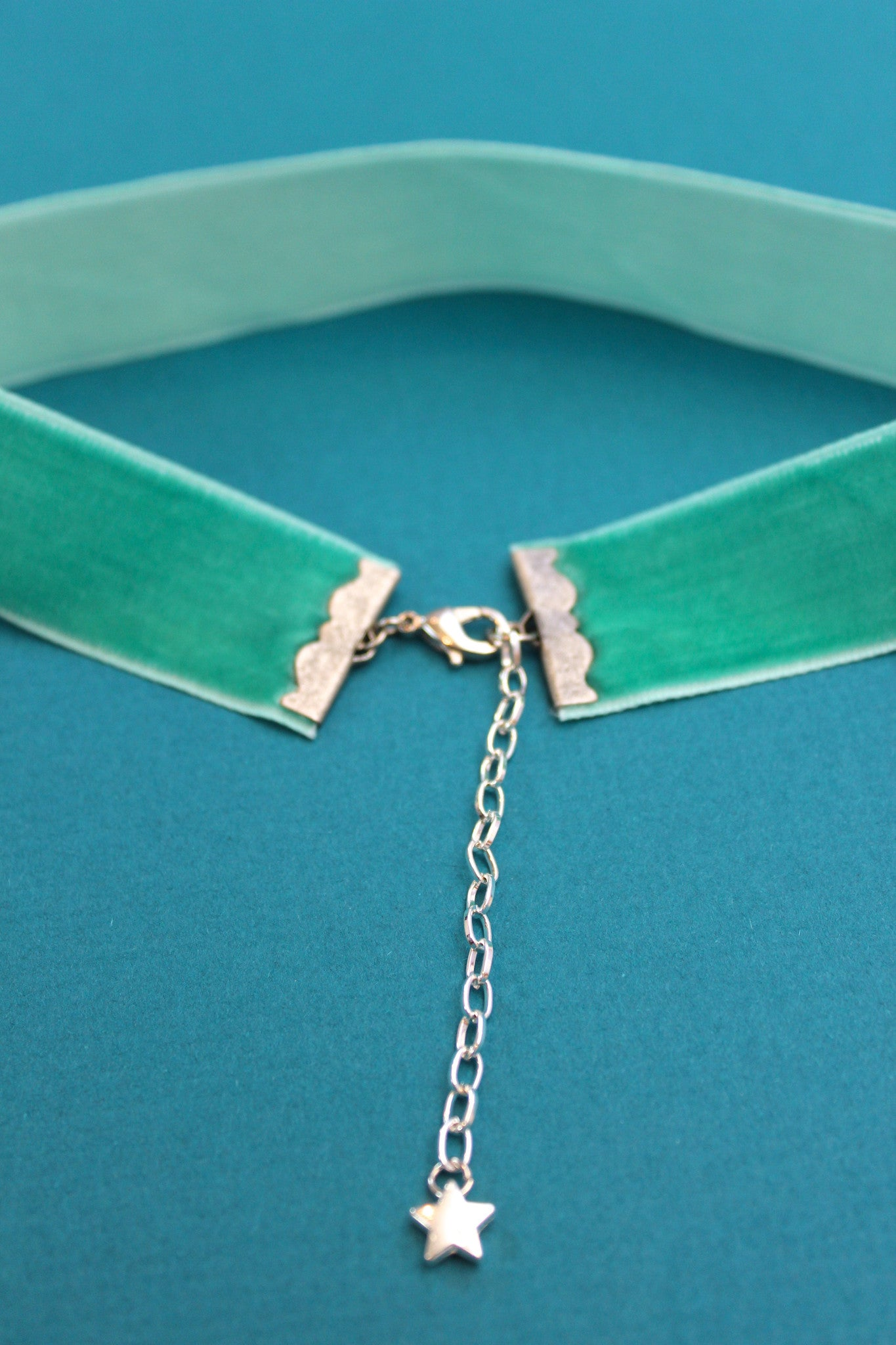 Seafoam Green Velvet Choker Necklace