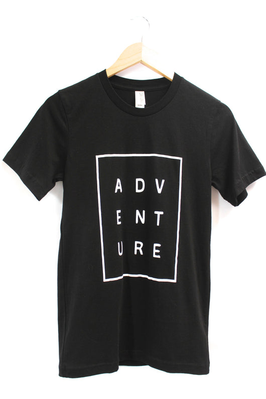Adventure Black Graphic Unisex Tee