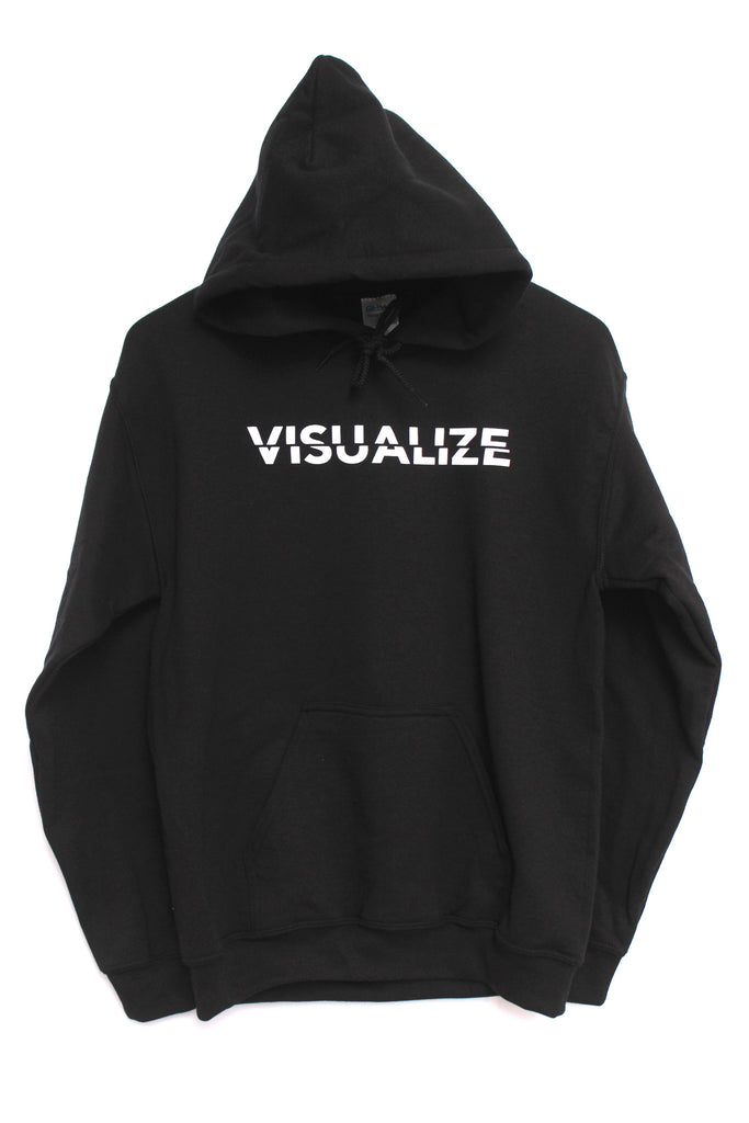 Visualize Black Graphic Hoodie