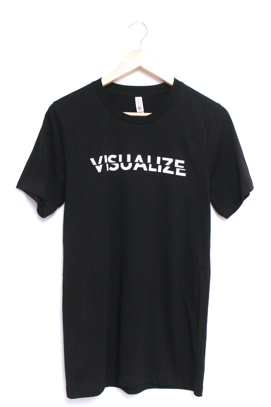 Visualize Black Graphic Unisex Tee