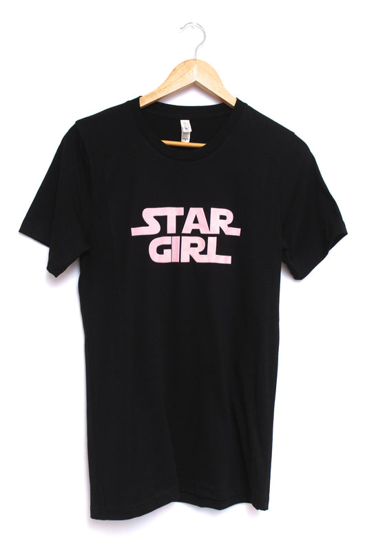 Star Girl Black Graphic Unisex Tee