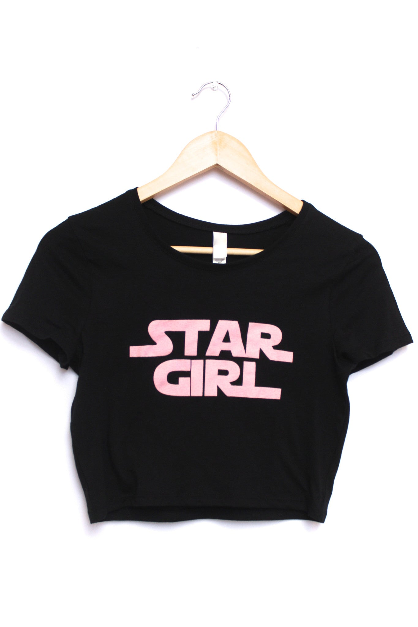 Star Girl Black Graphic Crop Top