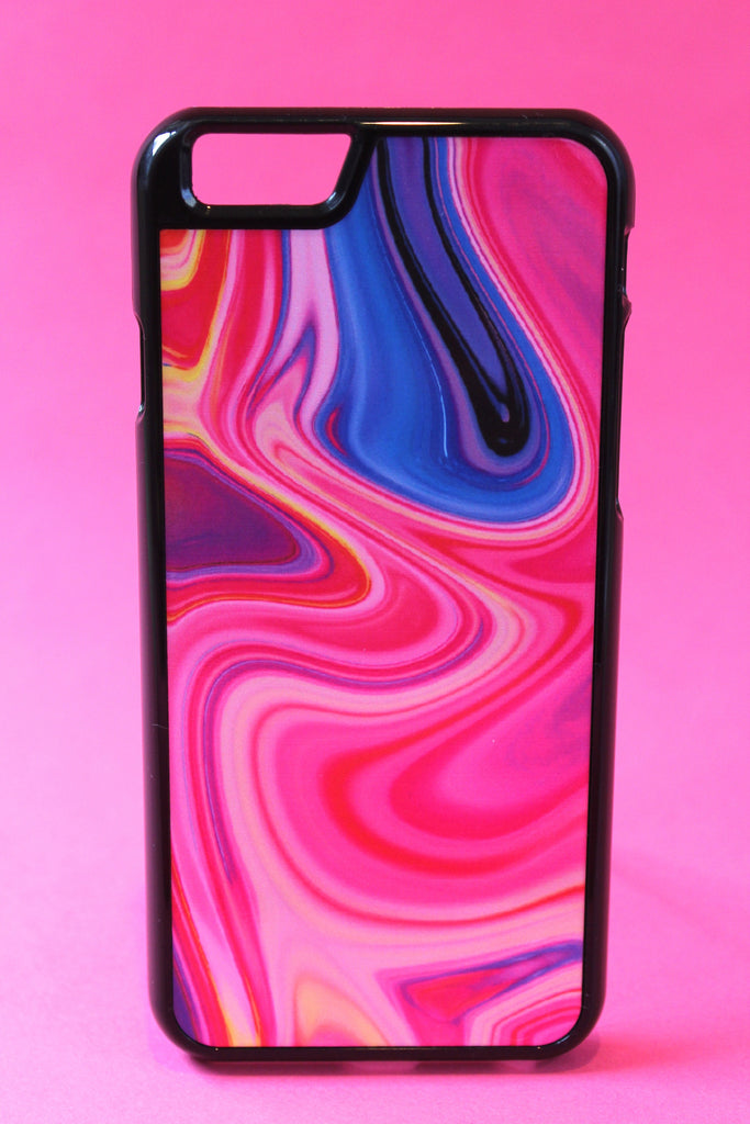 Neon Pink Color Warp Phone Case