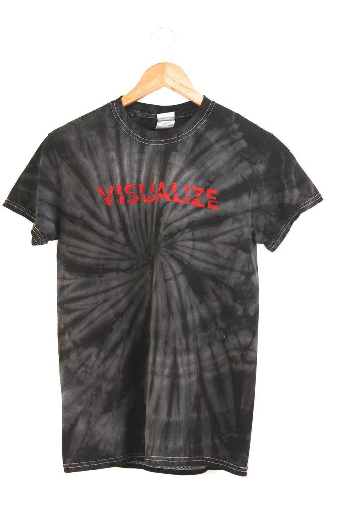 Visualize Black Tie-Dye Graphic Unisex Tee