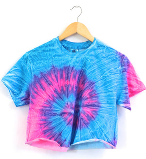 Paradise Neon Tie-Dye Cropped Tee
