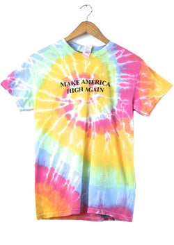 Make America High Again Pastel Rainbow Tie-Dye Graphic Unisex Tee