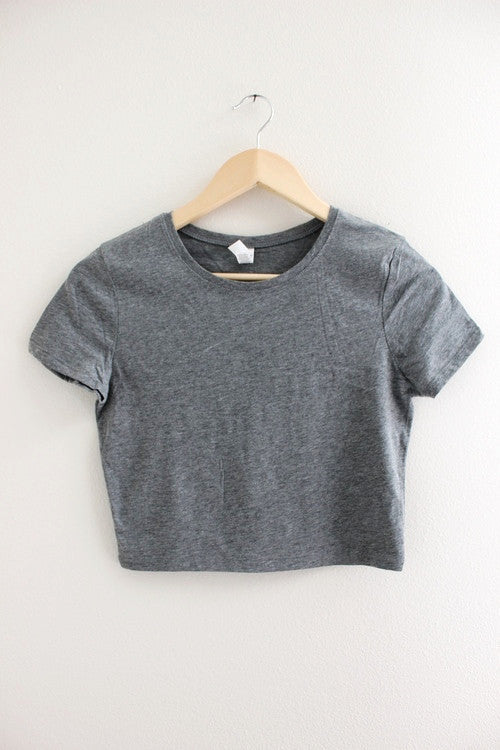 Basic Gray Crop Top