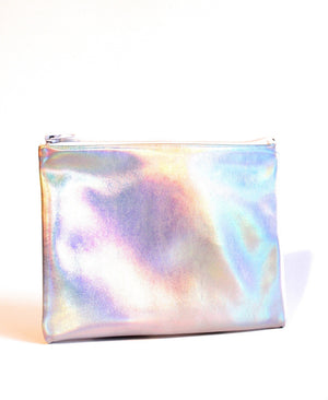 Silver Holographic Style Makeup Bag